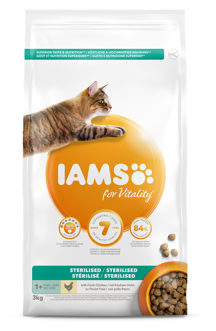 IAMS Cat Adult Sterilised or Overweight Chicken 3kg